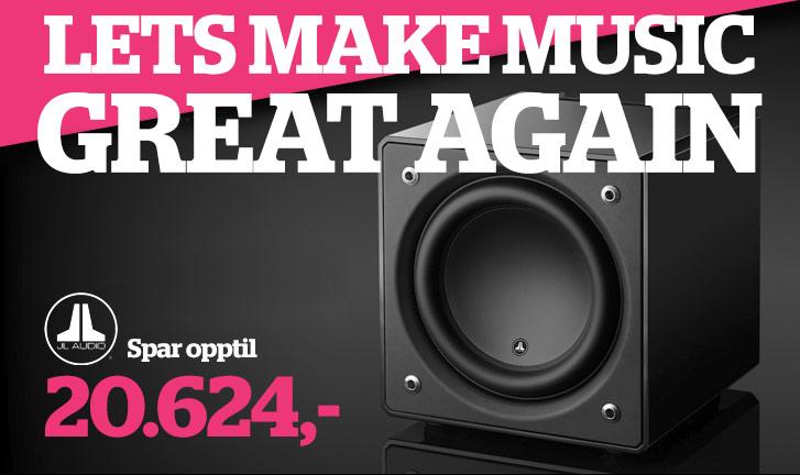 Salg JL Audio høyttalere