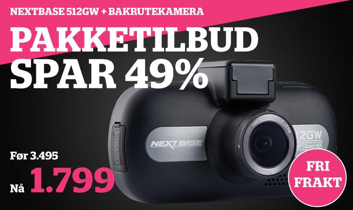 Nextbase 512GW pakketilbud med bakrutekamera